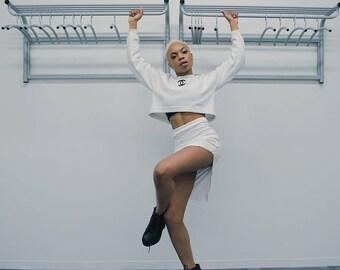 Chanel Crop Top Sweatshirt