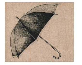 Rubber stamp Umbrella rain weather   cling stamp, unmounted or wood Mounted  scrapbooking supplies 7769