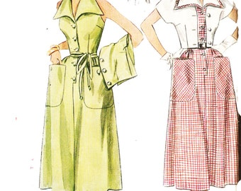 Simplicity 3257 Misses' Vintage 1950s Halter Sun Dress with Detachable Collar and Bolero Sewing Pattern