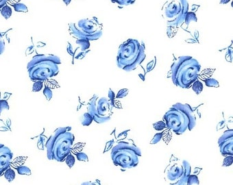 Sheila in Blue (Azure) - Blue and White - Michael Miller Fabrics - 1 Yard
