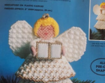 Christmas Tree-Top Plastic Canvas Needlepoint Angel