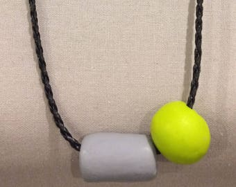 Polymer Clay Necklace - Wearable Art