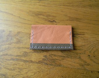 Clutch card blue light orange/taupe