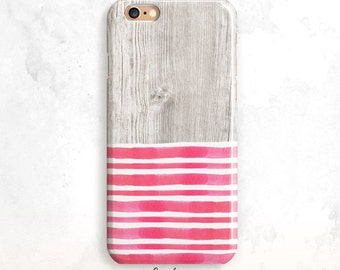 iPhone 6S Case, Pink Stripes iPhone 5S Case, iPhone SE Case, Wood iPhone 6 Plus, iPhone 7 Case, Wood iPhone 6 Case, iPhone 5, iPhone 7 Plus