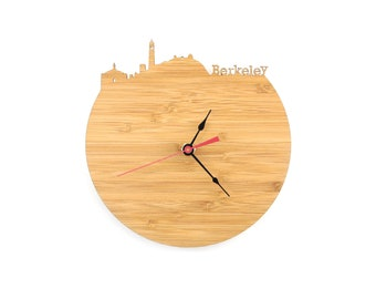 Berkeley Modern Clock - City Skyline Wall Clock - California