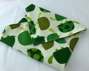 Reusable Sandwich Wrap Bag - Urban Zoologie Turtles Grass - Ready To Ship