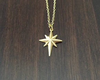 Gold star pendant etsy star gold star necklace gold stars gold star pendant star jewelry mozeypictures Image collections