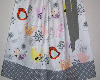 Pillowcase Dress with Birds Girls Dresses Starlings Retro Style Dress Alexander Henry Whimsical Dress Baby Dresses Bird Dress Summer Dresses