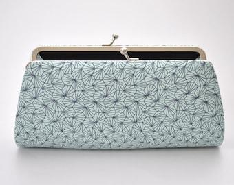 Optical Origami in Shine - Bridesmaid Clutch - Custom made clutch - Wedding clutch - Gift idea - For her