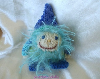 Guardian gnome, knitted, dwarf, Waldorf education 6.5inch/16cm