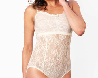 Lace Teddy, Ivory