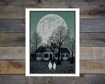 Couple and House 8x10in. Giclee Print