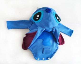 Baby Shower Stitch Costume Lilo and Stitch Onesie Newborn Preemie