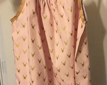 Golden deer pillowcase dress