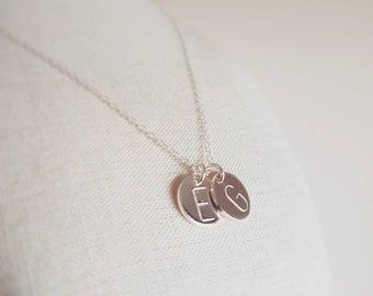 Personalised large initial necklace, initial necklace, sterling silver necklace, gold necklace, rose gold necklace, monogram necklace