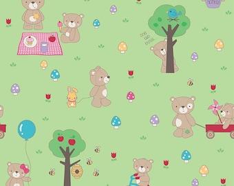 Riley Blake Designs Teddy Bear Picnic Green
