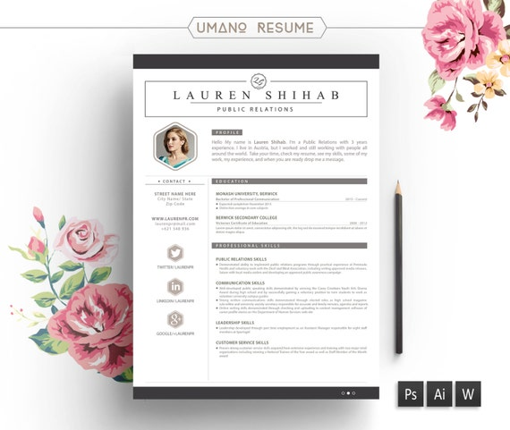 Resume template free cover letter for word ai psd diy yelopaper Gallery