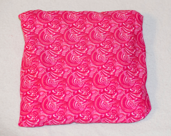 Pink swirls Hot Cold Corn Pack 6x6 inches for Hot Therapy and Cold Therapy