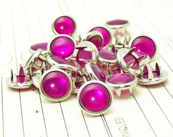 24 Cowgirl magenta s'accroche perle Prong Snaps ouest