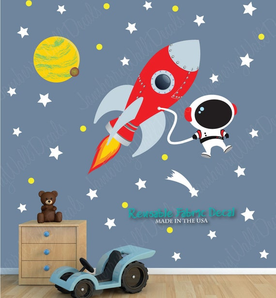 sc 1 st  Etsy & Space Wall Decal with Astronaut Planets Rocket Wall Decal