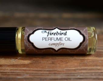 Campfire Perfume Oil - Maple Sugar, Charred Marshmallow, Smoky Firewood - Fall Perfume