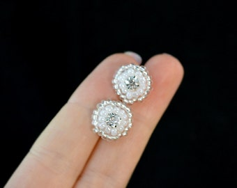 Sparkling Bridal Post Earrings