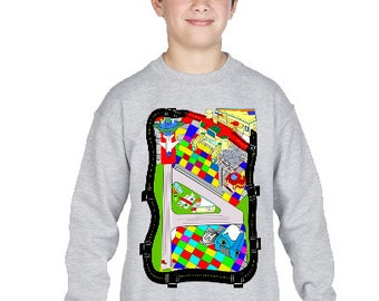 Airplane Map Kids SweatShirt 3 PLANES INCLUDED!!!