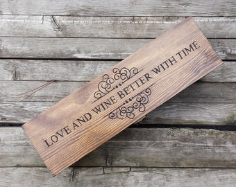 Personalized Wedding Wine Box, first fight box, memory box, wine box ceremony, love letter ceremony, wedding gift, shower gift, anniversary