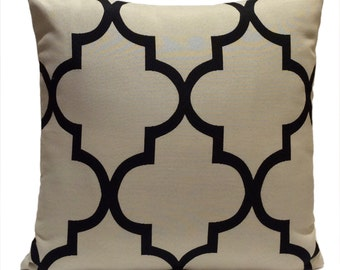 Black and Grayish Beige Pillow, Throw Pillow Cover, Decorative Pillow Cover, Cushion Cover, Accent Pillow, Pillowcase,Home Decor,Toss Pillow