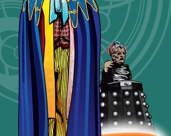 """Doctor Who - Colin Baker and Davros - 17 x 11"""" Digital Print"""