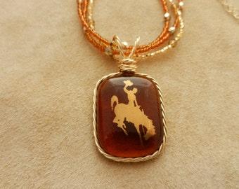 Amber Cowboy Necklace
