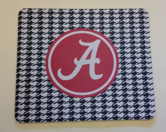 Alabama Crimson Tide Houndstooth Mouse Pad Personalized