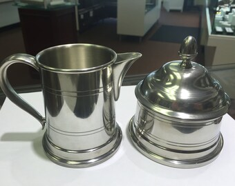 Pewter Cream and Sugar servers