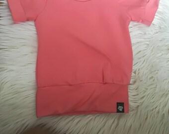 T shirt / uni / evolving / children / baby / evo / color / coral