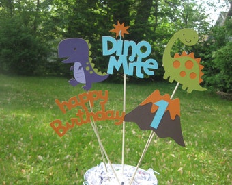 Dinosaur Table Centerpiece, Dinosaur Birthday Decorations, Boy Birthday Party