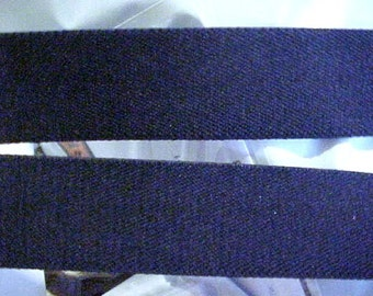 ELASTIC Belting 1-1/4 Heavy NAVY BLUE Belt Strap 5 yds. Strapping Luggage