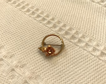 Vintage Dainty Krementz GF/Rose Gold Flower Pin