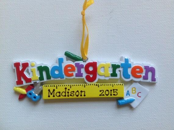 Items similar to Personalized Kindergarten Christmas ...