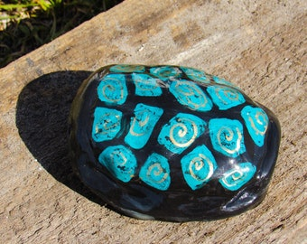 Ceramic Turtle Shell- Paperweight/Decorative