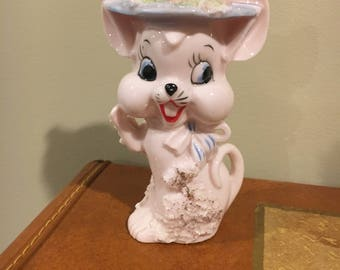 Pink mouse figure