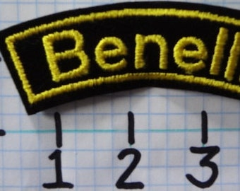 "Vintage ""Benelli"" Motorcycle Patch (001)"
