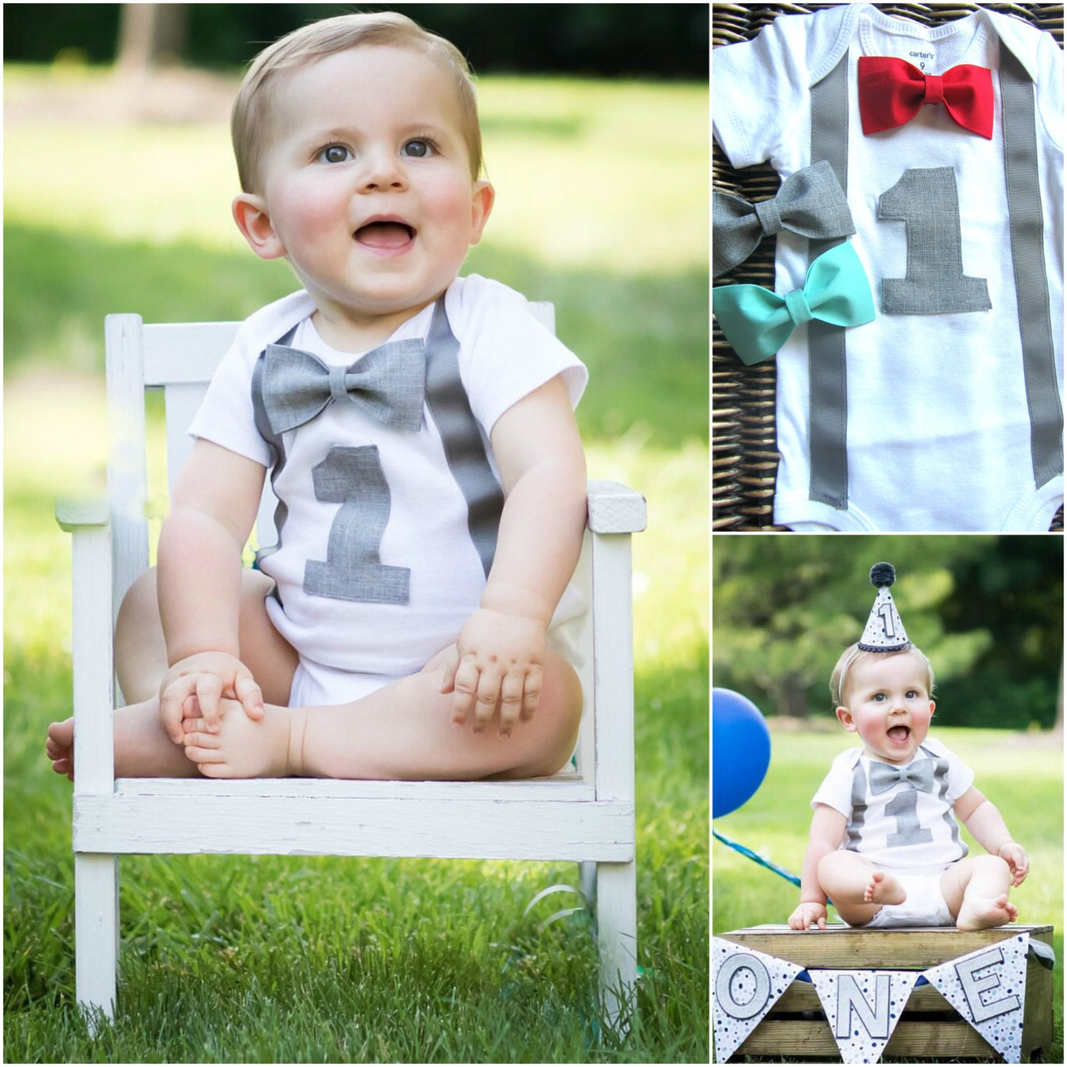 Boys First Birthday Outfit Personalized First Birthday Boy