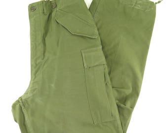 Vintage 50s M-1951 Military Trousers Pants Large Cargo Korea USA Military Sateen [G91I_2-8]