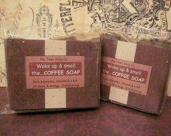 Coffee Soap   Espresso Soap   Exfoliating Coffee Soap   Coffee Themed Gifts