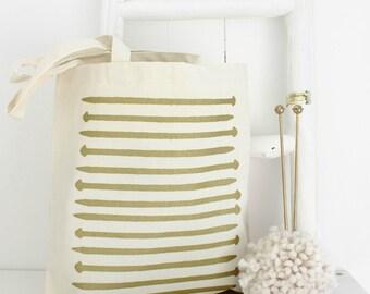 Cream Knitting Bag | Gold Knitting Needles | Knitting Bag | Gift For Knitters