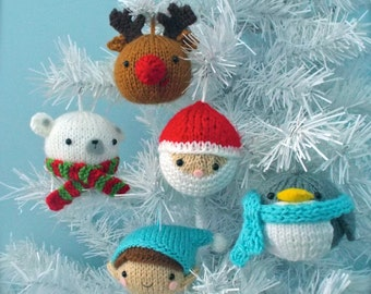 Amigurumi Christmas Patterns : Amigurumi knit christmas balls ornament pattern set digital