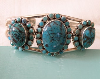 Robust Native American Turquoise Cuff