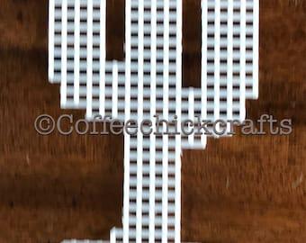Plastic Canvas Cactus Cut Out Plastic Canvas Needlepoint Cactus Shape