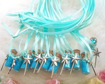 Party Favors Ice Princess Magic Castle Princess Fairy Pixie Sparkle Necklace, 10 Magic Wand Party Favors Queen Wedding Shower