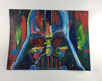 Darth Vader Acrylic Painting - 8x6